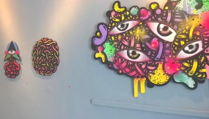Arte de Kefren Pok, grafiteiro.
