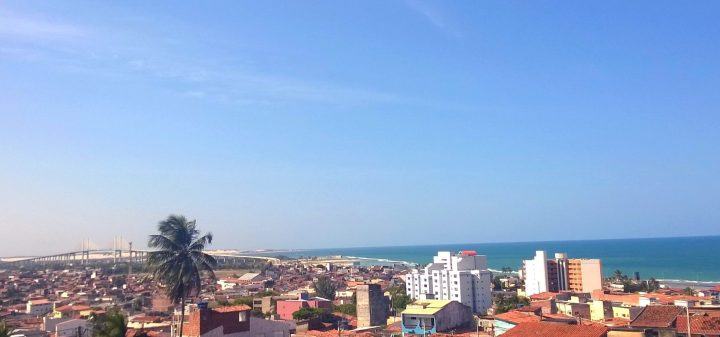 Vista pra Ponte Newton Navarro, Fortaleza dos Reis Magos e orla da Praia do Meio