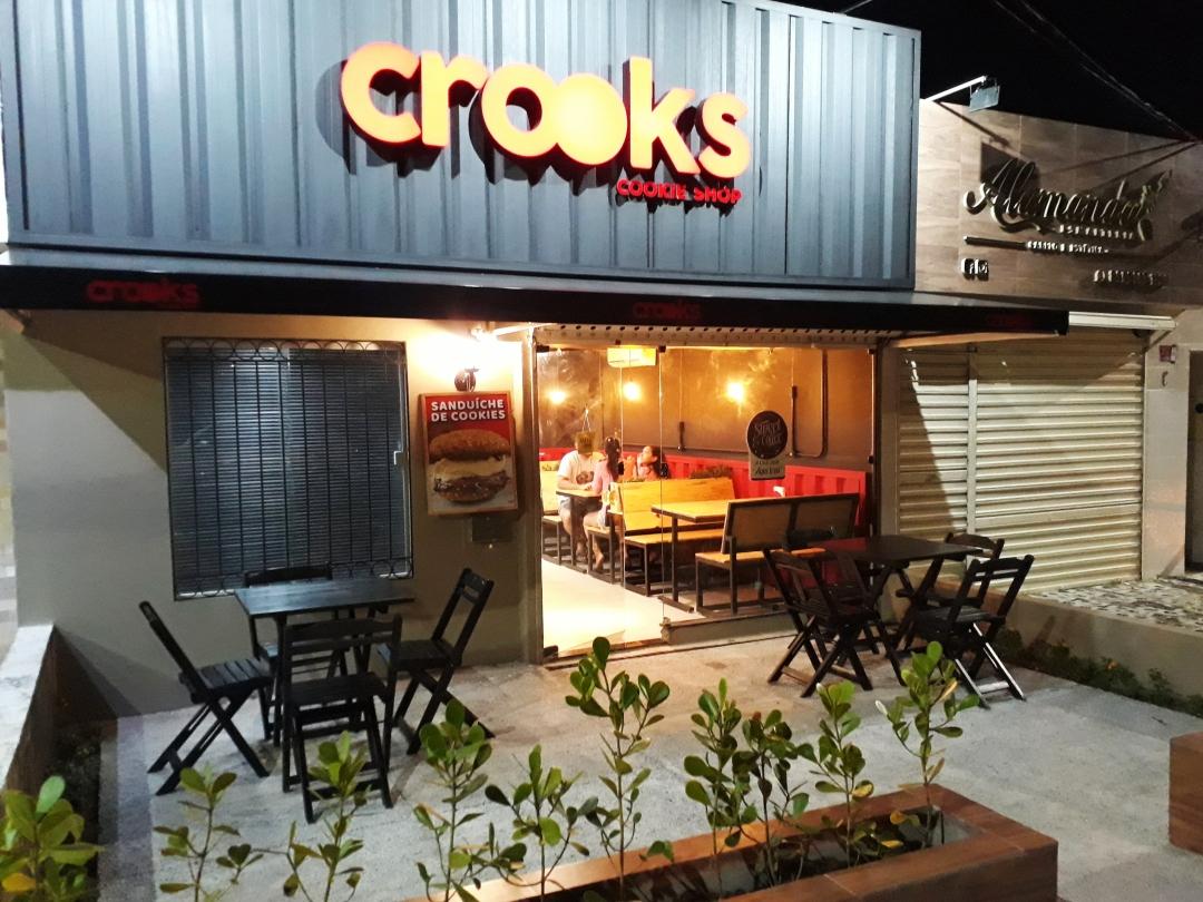 Novo espaço da Crooks Cookie Shop