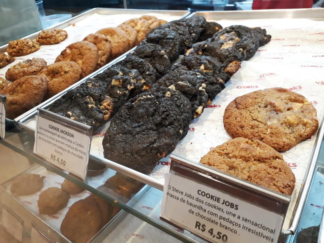 Crooks oferece vários sabores de cookies