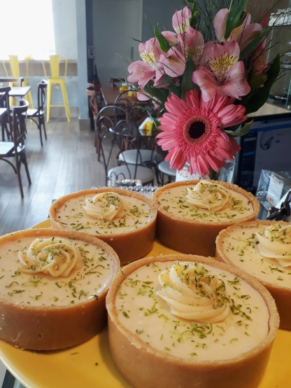 Tortinha de limão de Cecília Mindêlo Brownies.