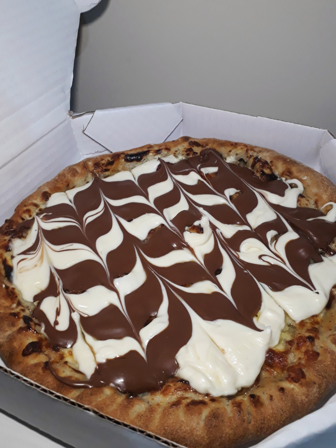 Pizza doce, sabor Duo, da Donna Pizza