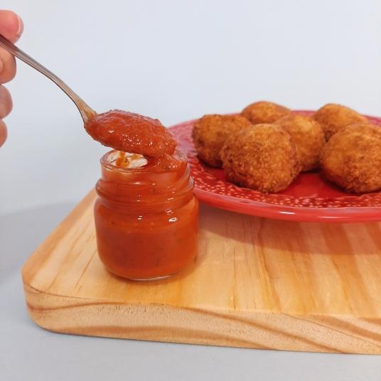 Ketchup artesanal do Arupema Cozinha (Foto: Érika Oliveira/Flambado na Cachaça)