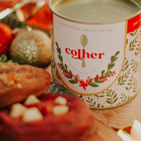 Lata presenteável de Natal da Colher Confeitaria (Foto: Divulgação)