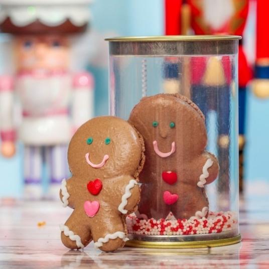 Macarons da Cookorote em versão natalina na embalagem para presente (Foto: Divulgação)
