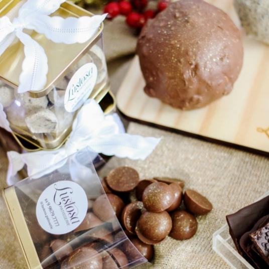 Drágeas de chocolate da Lustosa Patisseire (Foto: Divulgação)
